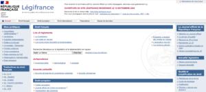 le site gouvernemental legifrance pour trouver des informations fiables sur la loi francaise