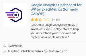 exactmetrics simplifie google analytics