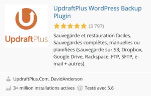 le meilleur plugin wordpress pour la sauvegarde et la restauration du site