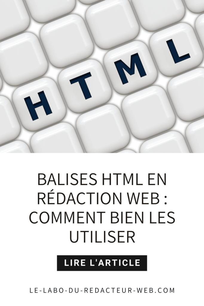 comment utiliser les balises html en redaction web