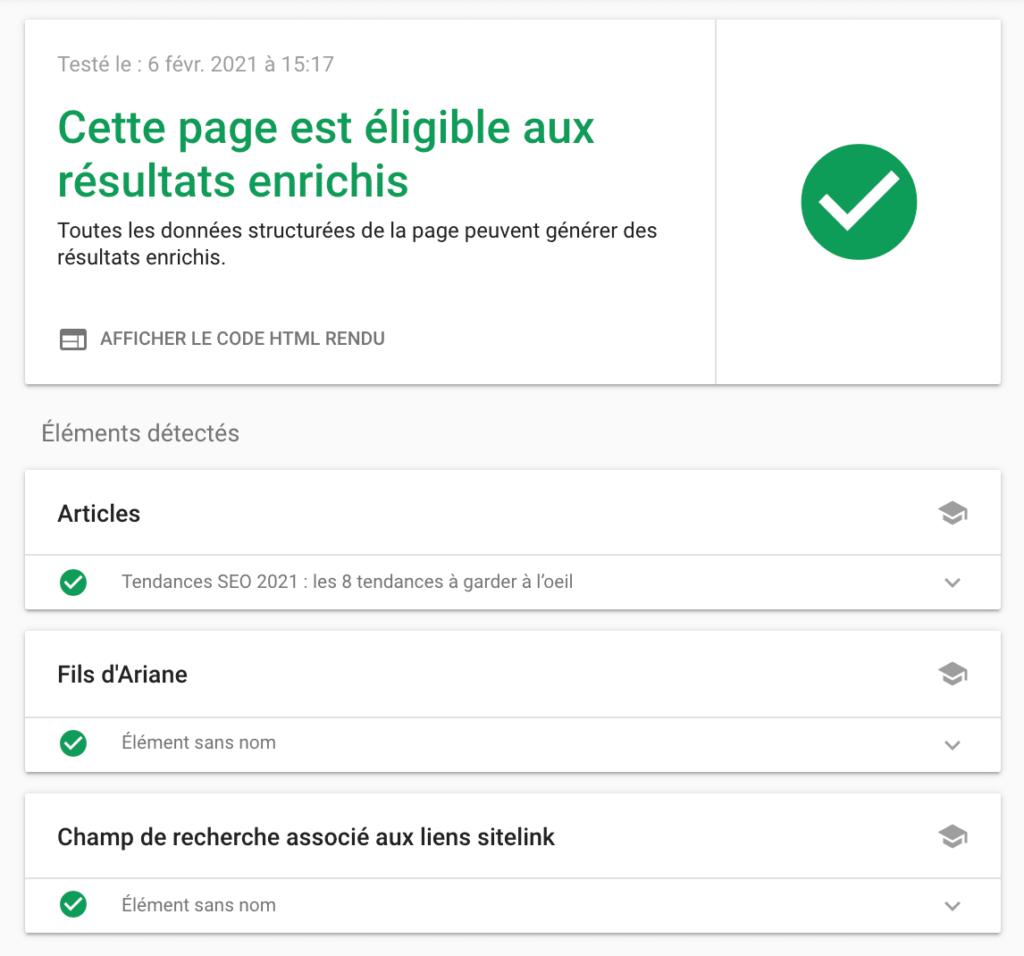 outil de test rich snippets google