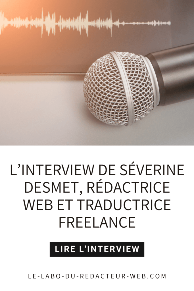 l'interview de severine desmet