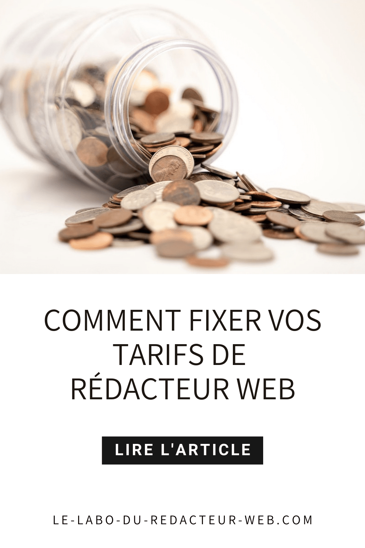 comment fixer ses tarifs de redacteur web