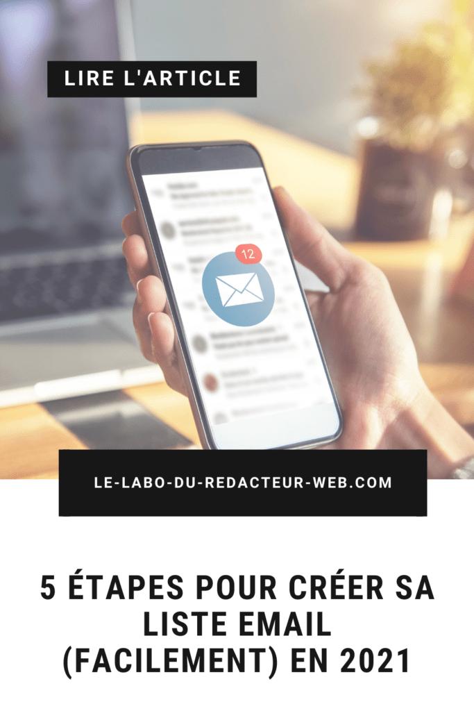 5 etapes pour creer sa liste email facilement en 2021